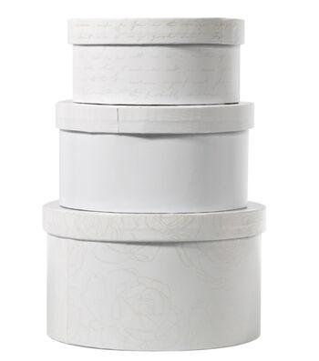 DCWV Circle Nested Box Set: White Foil