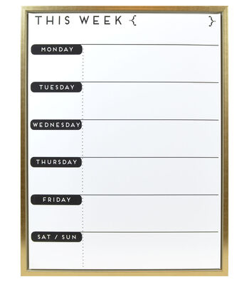 Weekly To-Do Dry Erase Planner 18''x24''