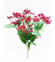Blooming Holiday Christmas 13.5'' Berry & Holly Leaves Spray-Red, , hi-res