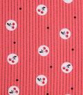 1930\u0027s Cotton Fabric 43\u0022-Cherry Stripe Coral