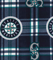 "Seattle Mariners Fleece Fabric 58""-Plaid, , hi-res"
