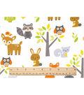 Nursery Cotton Fabric 43\u0022-Woodland Animals