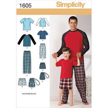 Simplicity Pattern 1605A S-L/S-Xl -Simplicity Men Boy S