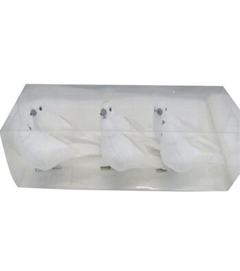 Blooming Holiday Christmas 6 pk Birds-White