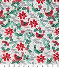 Christmas Cotton Fabric 43\u0022-Happy Holiday Cardinals