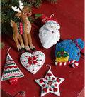 Nordic Santa Ornaments Felt Applique Kit 3.5\u0022X4.5\u0022 Set Of 6