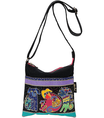 "Laurel Burch Crossbody 10""x10""-Dogs&Doggies"
