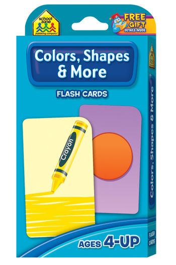 Flash Cards-Colors Shapes And More 41/Pkg