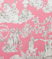 "Alexander Henry Cotton Fabric 44""-The Romantics Pink Grey, , hi-res"
