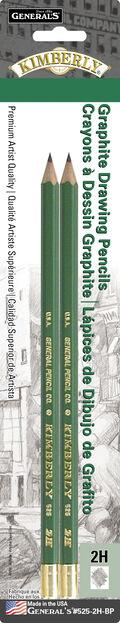 General Pencil Kimberly 2 pk No.2H Graphite Drawing Pencils