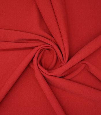 "Stretch Crepe Fabric 58""-Dark Red"