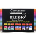 Colourcraft 24ct Brusho Crystal Colors Set