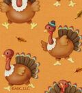 Harvest Cotton Fabric 42\u0027\u0027-Turkey Dance