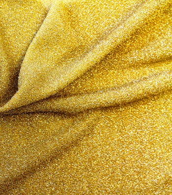 """Metallics Knit Fabric 58""""-Gold and White"""