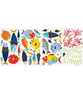 Wall Pops Fish Tales Wall Art Decal Kit, 38 Piece Set