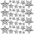 Idea-Ology Mirrored Stars 24/Pkg-Clear Assorted Sizes .25\u0022 To 1\u0022