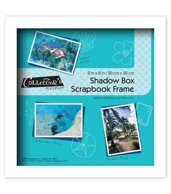 Shadowbox Frame 8x8-White