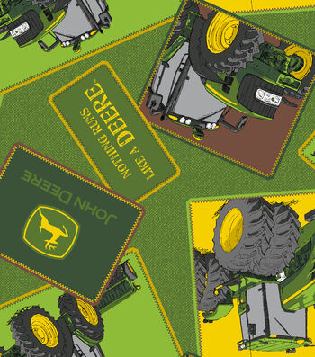 John Deere® Fleece Fabric 59''-Tractor Totted Patches
