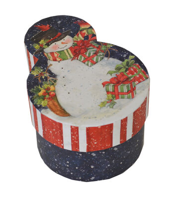 Maker's Holiday Medium Snowman Shape Box