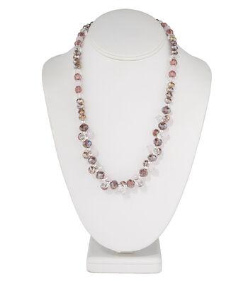 Short Cluster Necklace Purple