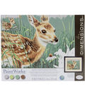 Paint By Number Kit 14\u0022X11\u0022-Fawn & Flowers