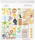 Doodlebug Essentials Page Kit 12\u0022X12\u0022-At The Zoo