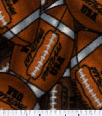 "Anti-Pill Fleece Fabric 60""-Packed Footballs"