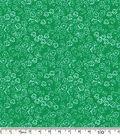 Keepsake Calico™ Cotton Fabric-Scribble Flowers Green