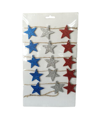 Americana Patriotic Star Garland
