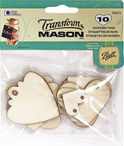 Wood Tags Hearts 10 Ct, , hi-res