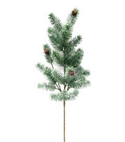 Blooming Holiday Christmas 28'' Frosted Pinecone Spray-Green, , hi-res