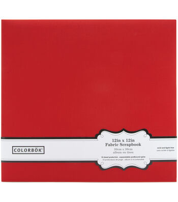 "Colorbok Fabric Albums 12""X12""-Teal"