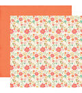 I\u0027d Rather Be Crafting 25 pk Double-Sided Cardstock-Fresh Cut Flowers
