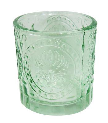 Wild Blooms Glass Jar-Green