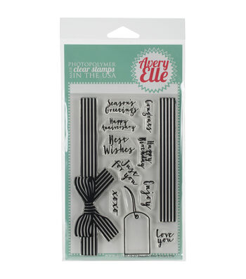 Avery Elle Clear Stamps-Beautiful Bow