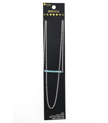 Blue Moon Beads® Modern Mystic Layering Necklace Duo-Turquoise Bar