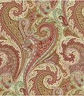 Williamsburg Solid Fabric 54\u0022-Jaipur Paisley/Prune