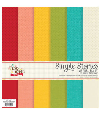 Simple Stories We Are Family 6ct 12''x12'' Simple Basics Kit