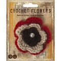 Wrights® Crochet Flower Red Brown-Large
