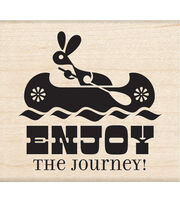 Inkadinkado Mounted Rubber Stamp Enjoy The Journey, , hi-res