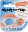 Highlighter Tape .5\u0022X393\u0022-Orange