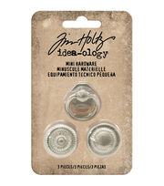 Tim Holtz® Idea-Ology 3 Pack 0.88'' Mini Hardware, , hi-res
