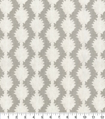 "Waverly Designer Upholstery Fabric 54""-True to Form Silver"