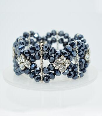 Crystal Diamond Style Bracelet-Black Shine