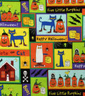 Halloween Cotton Fabric 44\u0022-Pete The Cat Halloween Patch