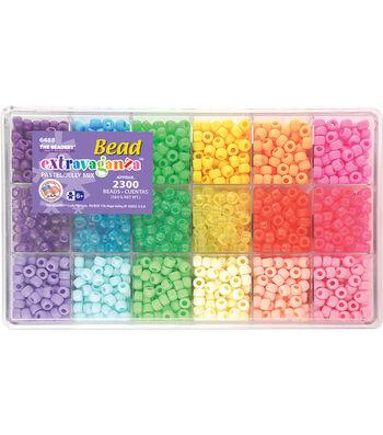 Giant Bead Box Kit 2300 Beads/Pkg-Pastel & Jelly