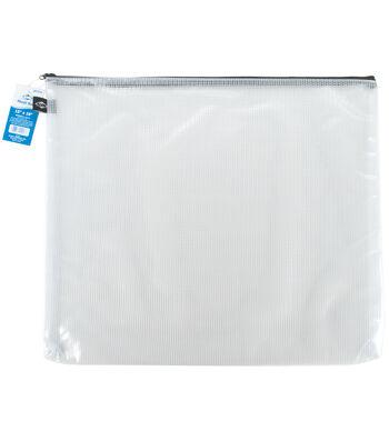 "Clear Mesh Bag with Zipper 15""x18"""