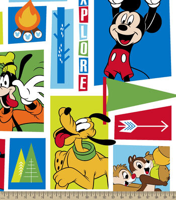 """Disney® Mickey Mouse Fleece Fabric 59""""-Mickey And Friends Exploring"""