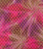 Legacy Studio™ Batik Fabric 44''-Metallic Diamond on Pink & Purple, , hi-res