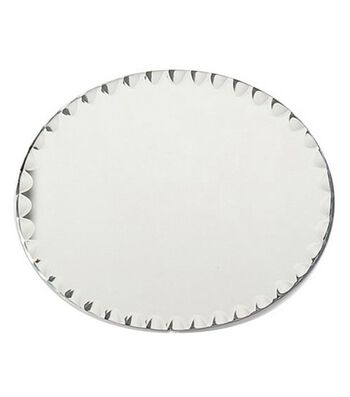 "8""x10"" Oval Glass Mirror W/Scallop Edge"